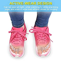 Gel Toe Separator Toe Spacers Toe Stretchers for Men and Women Easy Wear in Shoes, Toe Bunion Relief Toe Straightener, Quickly Alleviating Pain After Yoga and Sports Activities(1 Pair)