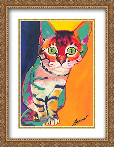 Tiger 2X Matted 22x28 Large Gold Ornate Framed Art Print by Ron Burns ()