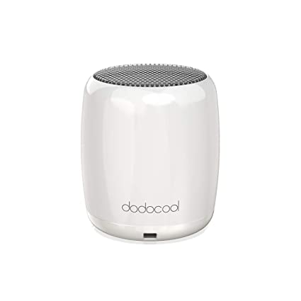 Portable Bluetooth Speaker,dodocool Mini Speaker,Portable Speakers with Mic  and Selfie Remote Control for iPhone iPad Android Smartphone More White