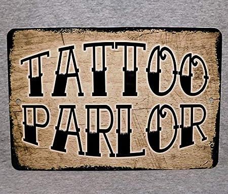 Qui556 Cartel de Metal Tattoo Parlor de Tienda de Tinta Flash Artista Tatuajes de Calavera Tatuada máquina de Estudio Tatuaje de Hombre Cueva Placa de Aluminio