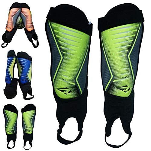 2d1460366 Rawxy Junior Youth Exceptional Flexible Soccer Shin Guards with Ankle  Sleeves - Great for Men Women Boys Girls