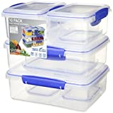 Sistema Klip It Collection Multi Piece Food Storage Containers, Set of 10
