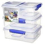 Sistema Klip it–Collection Multi pieza almacenamiento de alimentos contenedores, Conjunto de 6, Transparente, 1