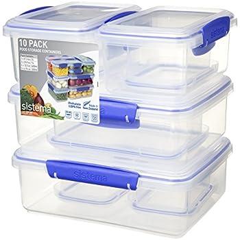 Amazon Com Sistema 1213 Bake It Food Storage For Baking