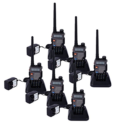 BaoFeng UV-5RB 5W 136~174MHz/400~520MHz Dual-band Dual-display Wireless Multifunction Walkie Talkie (Pack of 6) by BaoFeng