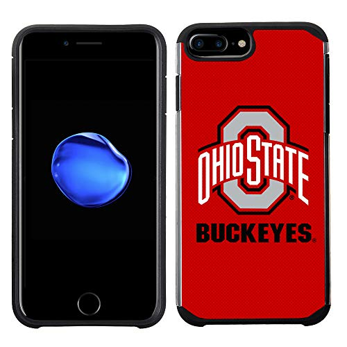 (Prime Brands Group Textured Team Color Cell Phone Case for Apple iPhone 8 Plus/7 Plus/6S Plus/6 Plus - NCAA Licensed Ohio State University Buckeyes)
