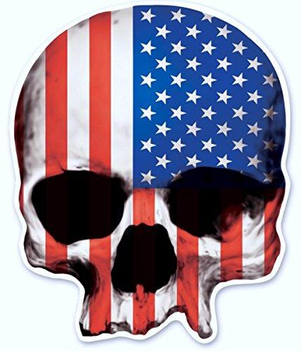 3'' USA Skull Decal Graphic for Honda Kawasaki Suzuki Yamaha Harley