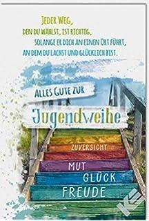 Jugendweihe Karte Schreiben.Glückwunschkarte Zur Jugendweihe Zukunft B6 Umschlag Amazon De