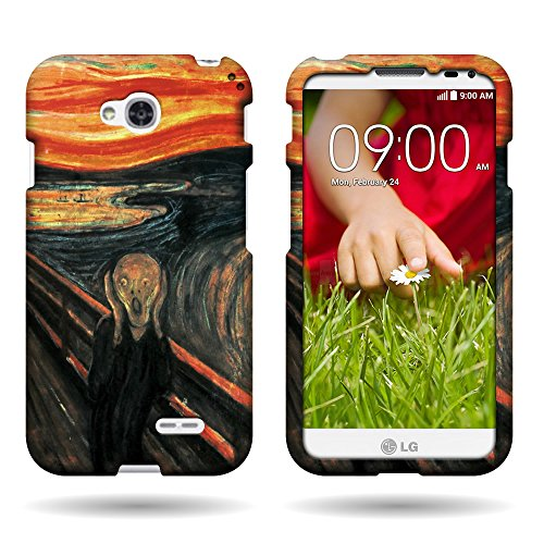 CoverON Slim Hard Case for LG Optimus L70 Exceed 2 Realm Pulse Ultimate 2 L41C (The Scream) (Optimus Orange Case L70 Lg)