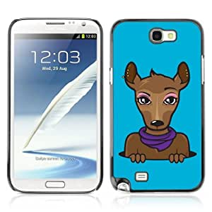 YOYOSHOP [Funny Hipster Animal Illustration] Samsung Galaxy Note 2 Case
