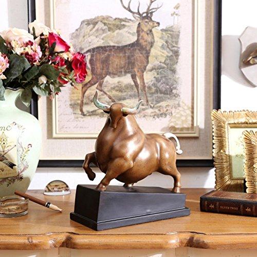 DIDIDD Decoraciones-decoraciones de la sala de estar hogar creativo europeo adornos decorativos de la vaca,A
