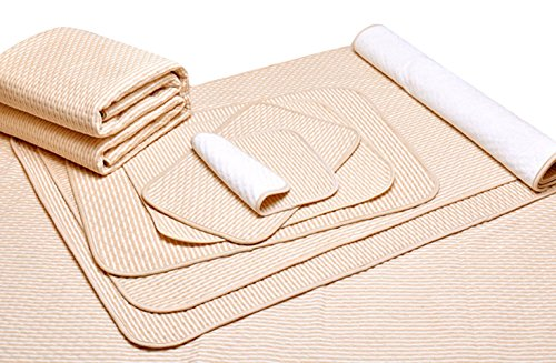 Liveinu Cotton Blends Waterproof Reusable Incontinence Bed Pads Washable Underpads 8 Cups Absorbency Mattress Protector for Adults, Kids and Pets 31