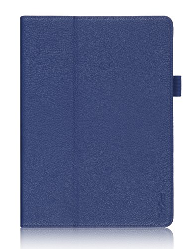 ProCase Galaxy Tab S 10.5 Case - Bi-Fold Flip Stand Cover Case Exclusive for 2014 Galaxy Tab S Tablet (10.5 inch, SM-T800), with Hand Strap, auto Sleep/Wake (Navy, Dark Blue)