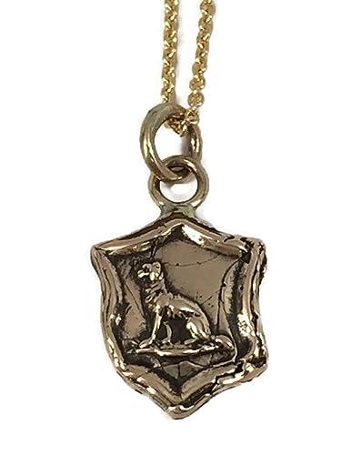 15213e8b0 Amazon.com: Pyrrha Design 14K Yellow Gold Talisman Necklace ...