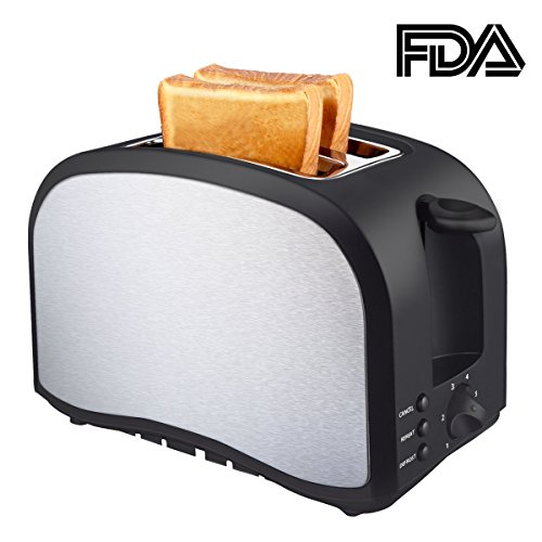 Toaster Top Rated Cool Touch Wide Slots Compact Brushed Stainless Steel Toasters 2 Slice Best Rated Prime Quickly Toasts Bread Muffins Waffles