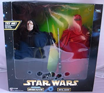 Star Wars Action Collection 12 Electronic Emperor Palpatine Figure with Royal Guard Figure