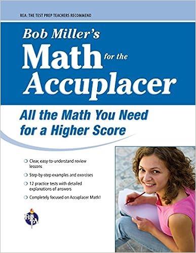 Amazon com: ACCUPLACER®: Bob Miller's Math Prep (College
