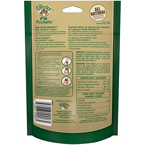 Greenies FELINE Pill Pockets Cat Treats Salmon Flavor, 3 Ounce Value Size Bag by Greenies (Image #2)