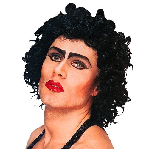 Furter Curly Black Wig Frank N The Rocky Horror Picture Show