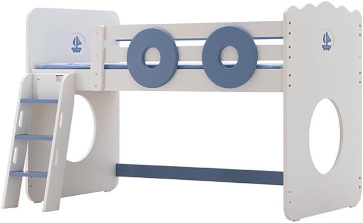YJBE cama altillo con escalera niños MDF 205,5 * 110 * 139 CM (azul): Amazon.es: Hogar