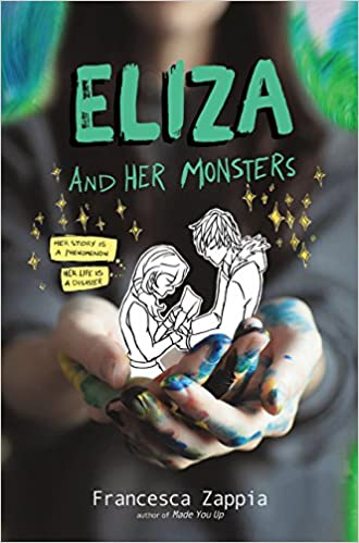 anxiety, audiobook review, book review, book reviews, depression, eliza and her monsters, mental health, panic disorder, webcomic, ya contemporary, ya contemporary books,