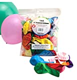 Birthday Party Latex Balloons - Decorations for Kids Birthdays, Grad Parties, Baby Showers - 11 Inch Balloons, Jumbo Pack of 144