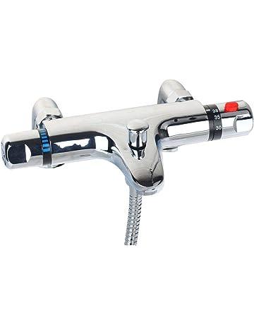 b921bb38a6 Chrome Thermostatic Shower Mixer Modern Thermostatic Bar Shower Mixer Valve  Anti Scald Tap