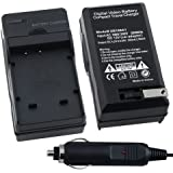 Compact Battery Charger Set for Kodak KLIC-7004 / Fuji NP-50 / Pentax DL-I68