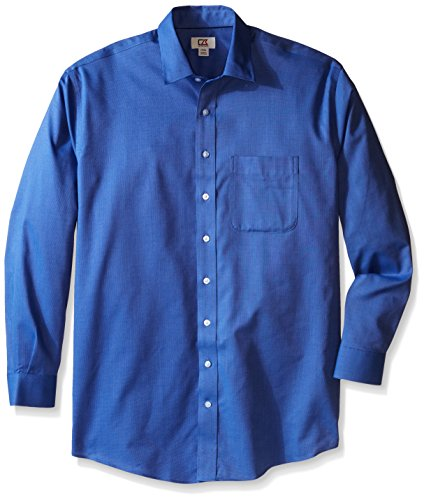 Cutter & Buck Men's Big and Tall Long Sleeve Easy Care Spread Collar Nailshead, French Blue, 3X/Big -