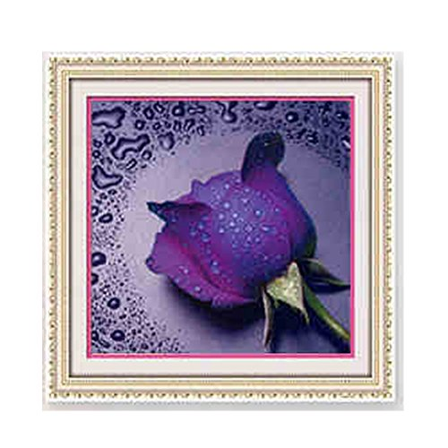 Painting Violet (DIY Diamond Painting 4 Color Rose Flower Pattern Home Decor (Violet) ¡­)