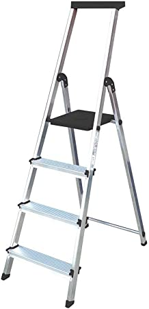 Escalera Rolser Aluminio BriColor 4 Peldaños - Antracita: Amazon.es: Hogar