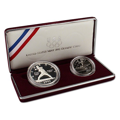 Olympic Commemorative Coin (1992 US Olympic 2-Coin Commemorative Proof Set OGP)