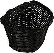 AVASTA Bike Basket,Front Handlebar Adult Storage Basket, Waterproof with Leather Straps,Bicycle Accessories,Me