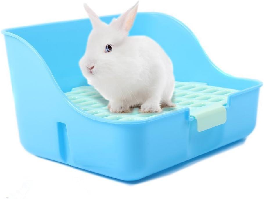 Caja de arena MMBOX para jaulas de conejo, fácil de limpiar, para animales pequeños, conejos, conejillo de indias o hurones