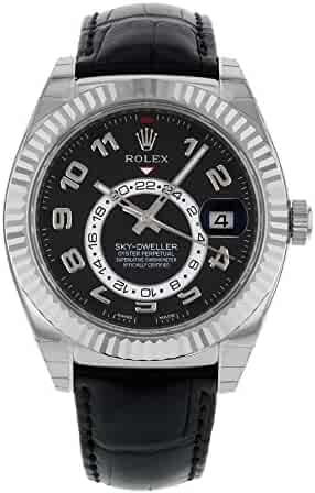 Rolex Oyster Perpetual Sky-Dweller 326139 18K White Gold Automatic Men's Watch