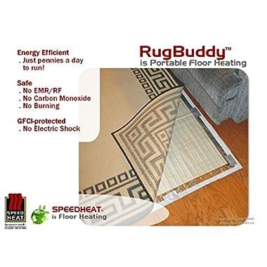 RugbuddyTM 165w Under Rug Space Heater, 3' X 5'