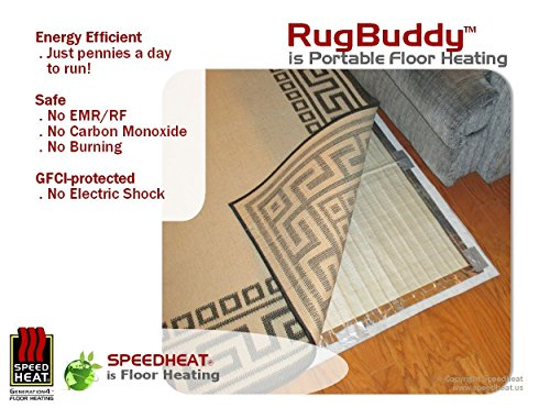 RugBuddy Speedheat 500 Under Rug Space Heater (7' 9\
