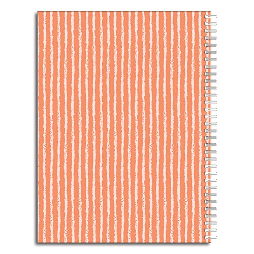 Sophisticated Floral Personalized Monogram Spiral Notebook/Journal, 120 College Ruled or Checklist Pages, durable laminated cover, and wire-o spiral. 8.5x11 | 5.5x8.5 | Made in the USA Photo #2