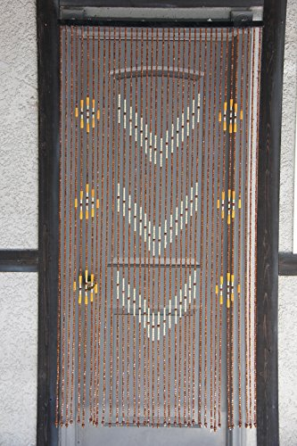 - Natural Bamboo & Wood Beaded Curtain 38 stands