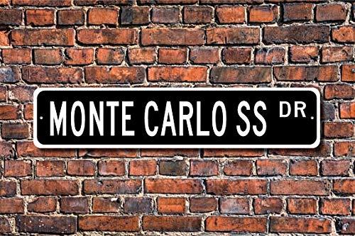 Fhdang Decor Monte Carlo SS, Chevrolet Monte Carlo SS Sign, Chevy Monte Carlo SS Gift, Chevy Monte Carlo Owner, Custom Street Sign,Metal Sign, 4