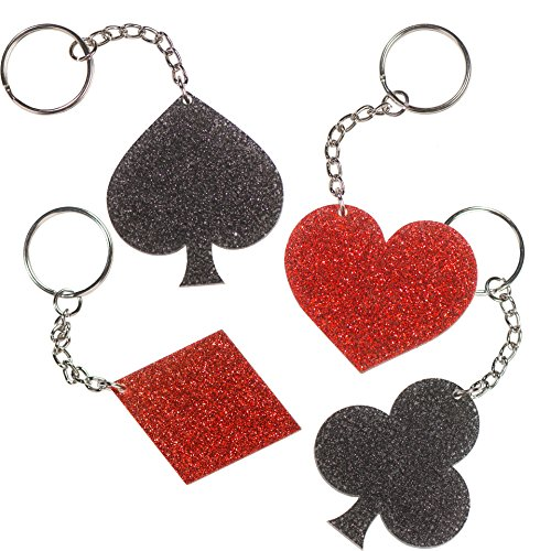 Card Suits Keychains - Glitter Key Chains (Card Suit)