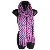 Missoni Womens 'Missoni Scarf 10066418' Winter Scarf, Pink/Purple/Burgundy