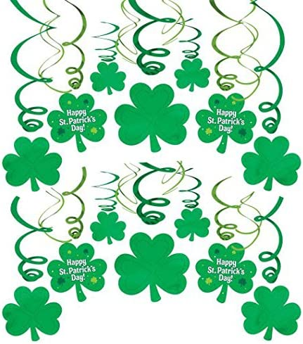 Patricks Day Green Plastic Shamrock Printed Eyeglasses Party Accessory I 4 Ct Amscan St Accessories Toys Games