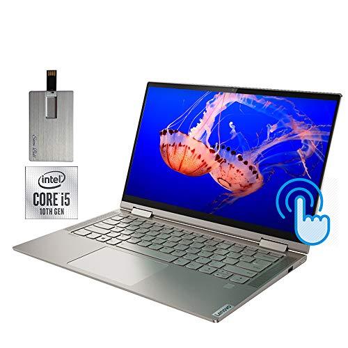 2020 Lenovo Yoga C740 2-in-1 14″ FHD Touchscreen Laptop Computer, Intel Core i5-10210U, 8GB RAM, 256GB SSD, Backlit Keyboard, Intel UHD Graphics, HD Webcam, Windows 10, Mica, 32GB Snow Bell USB Card