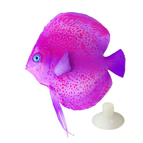 (Saim Lifelike Plastic Artificial Moving Floating Fish Ornament Decorations for Aquarium Fish Tank)
