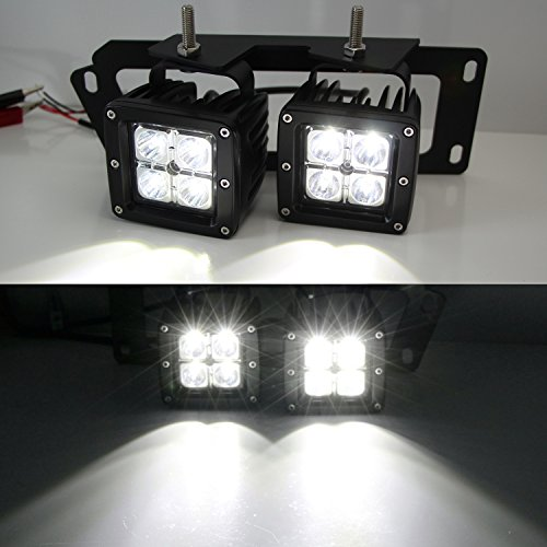 Ijdmtoy 4x Cree High Power Dual Led Pod Light Kit W Fog