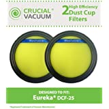 2 Filters for Eureka SuctionSeal, Endeavor, & Nimble Vacuums; Contains DCF-25 Filters; Compare to Eureka Part Nos. 67600, 82982-2; Designed & Engineered by Think Crucial
