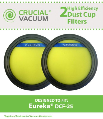 2 Replacements For Eureka Dcf25 Filter Fits Suctionseal  Endeavor    Nimble  Compatible With Part   67600   82982 2  By Think Crucial