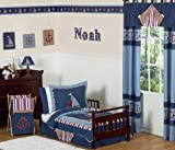 Sweet Jojo Designs 5-Piece Nautical Nights Boys Sailboat Toddler Bedding set