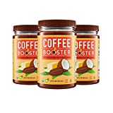 Coffee Booster - Organic High-Fat Coffee Creamer - All Natural Keto Friendly Butter Blend of Grass-fed Ghee, Coconut Oil and Raw Cacao - 3 Pack of 15 oz Jars (Original)
